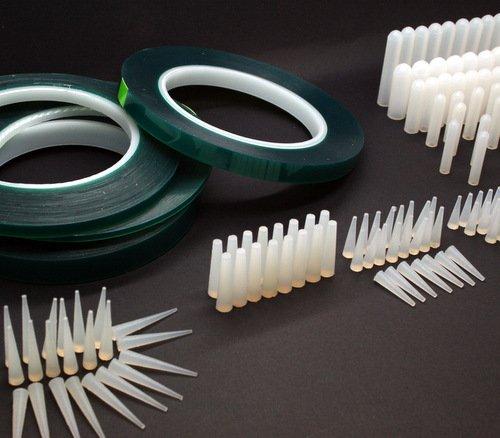 Kit per verniciatura a polvere, per mascheratura ad alta temperatura, 380 pezzi, include kit adesivi per mascheratura, tappini in silicone, tappini conici in silicone, resistenti al calore fino a 315 ° C Vital Parts PCK380
