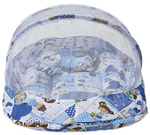 Amardeep and Co Baby Mattress with Mosquito Net (Blue) – MT-02-Blu-Collage