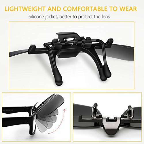 Gafas 2 Gafas polarizadas Sol on de Clip UV400 Unidades de Sol Gritin 7pRXq