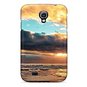 Slim Fit pc Protector Shock Absorbent Bumper Peaceful Ocean Sunset Case For Galaxy S4