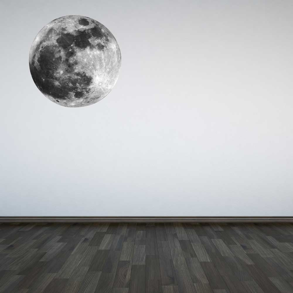 60 Second Makeover Limited Full Colour Moon Wall Sticker Decal Childrens Bedroom Kids Boys Room Outer Space Galaxy Large