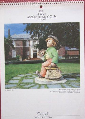 1987 10 Years Goebel Collectors' Club 1977-1987 Calendar M.I. Hummel Figurines