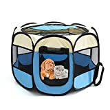 quiet guinea pig water bottle - SHUANGWEI Portable Pet Cage, Color and Size Varied, Indoors &Outdoors Dog Crate,Suitable for Dogs/Cats/Small Animals