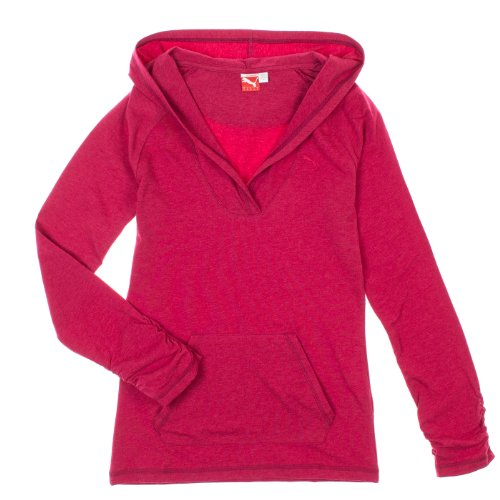 Tee-shirt ¨¤ capuche ¨¤ manches longues pour femmes - Cerise Heather (X-Large)