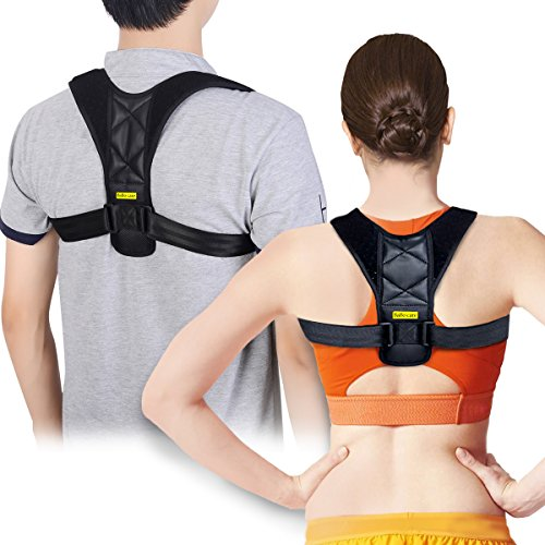 Posture Corrector Support Brace for Women & Men by Babo Care, Figure 8 Shaped Designed for Your Upper Back, Helps to Improve Posture, Prevent Slouching (LGE)