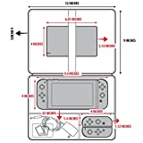 Nintendo Switch Case Bag by USA Gear - Custom Storage Compartments for Dock , Joy-Con Controllers , Pro Controller , Charging Grip , Games - w/ Carrying Shoulder Strap & Padded Interior