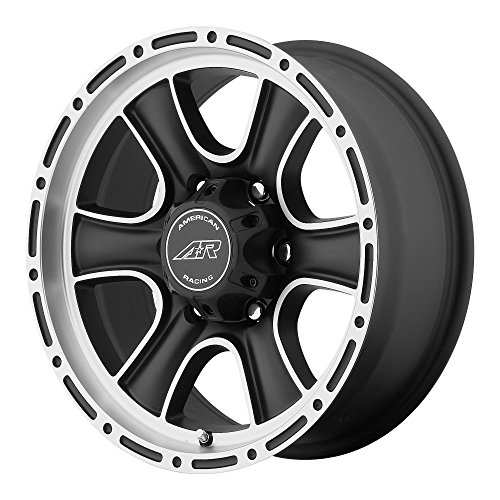 American Racing Custom Wheels AR902 Satin Black Wheel With Machined Accents (17x8