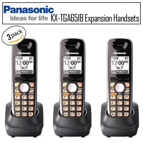 Panasonic KX-TGA651B DECT 6.0 Three Pack Handset Bundle for DECT 6500 Phones, Office Central