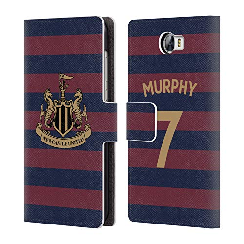 Murphy Compact Wallet (Official Newcastle United FC NUFC Jacob Murphy 2018/19 Players Away Kit Group 1 Leather Book Wallet Case Cover for Huawei Y6 II Compact)