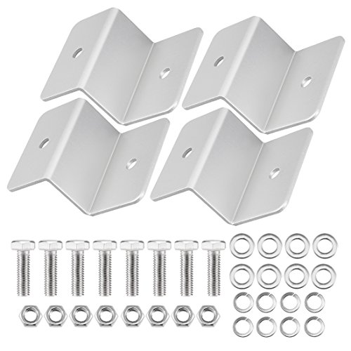 uxcell ZB-04 Silver Tone Solar Panel Mounting Z Bracket Set for Yacht/Solar Panel