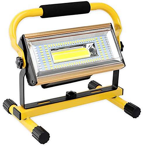 WOERD LED Baustrahler, Arbeitsleuchte Wiederaufladbare, 100W 2000LM Bauscheinwerfer 360°Drehbar IP65 Wasserdicht…