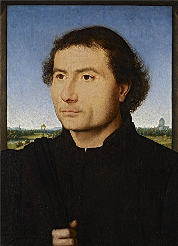 Yellow Depression Glass Patterns - Oil Painting 'Hans Memling - Portrait Of A Man, C. 1470', 24 x 33 inch / 61 x 84 cm , on High Definition HD canvas prints is for Gifts And Foyer, Game Room And Home Theater Decoration