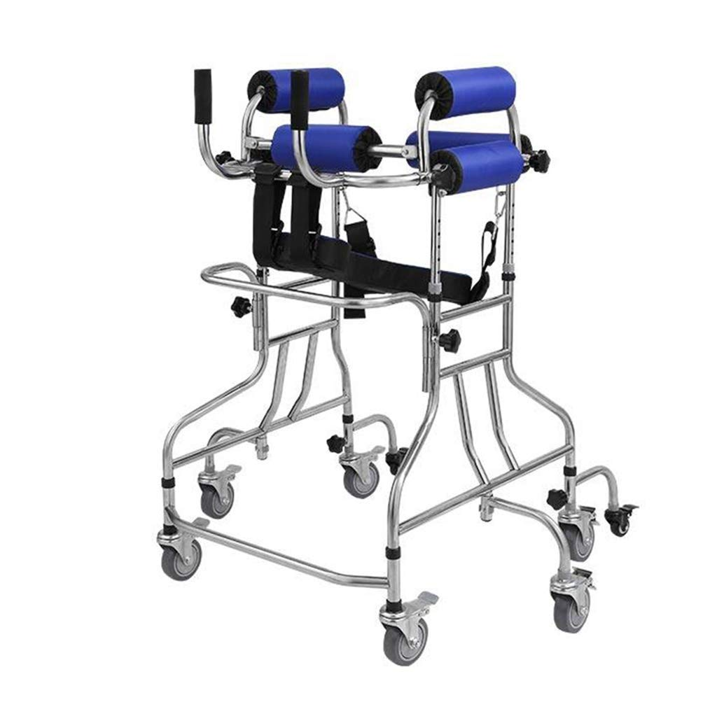 JLVNA Folding Walker - Medical Walker with Seat Stand - Mobility Help for Adults, Children, The Elderly and People with Disabilities by JLVNA