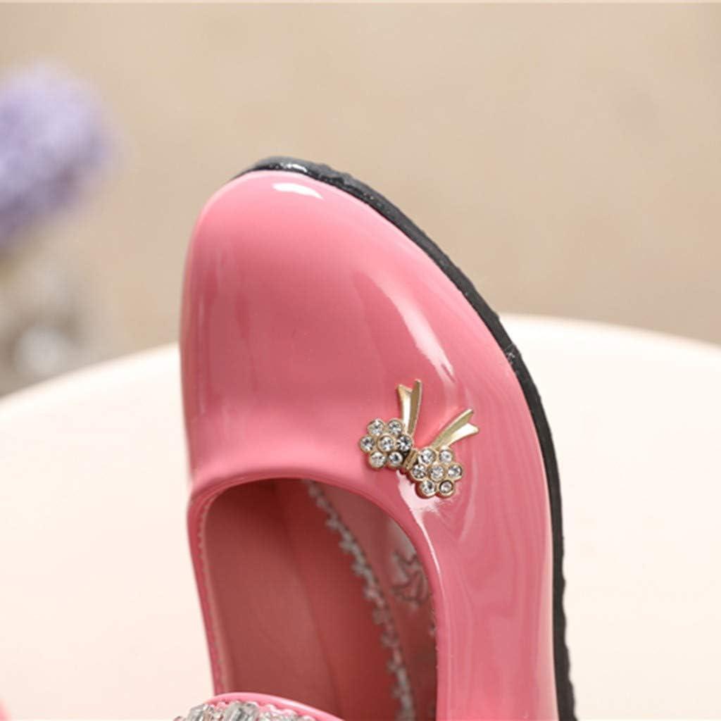 Longzjhd Chaussures Princesse Filles Chaussures en Cristal pour gar/çons Baby Dance Single Chaussures Sandales Ceremonie Fille Chaussure /à Talon Enfant Ballerine Paillettes pour Mariage D/éguisement
