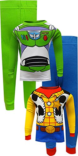 Toy Story Buzz Lightyear and Woody Cotton Toddler Pajamas for Little Boys -