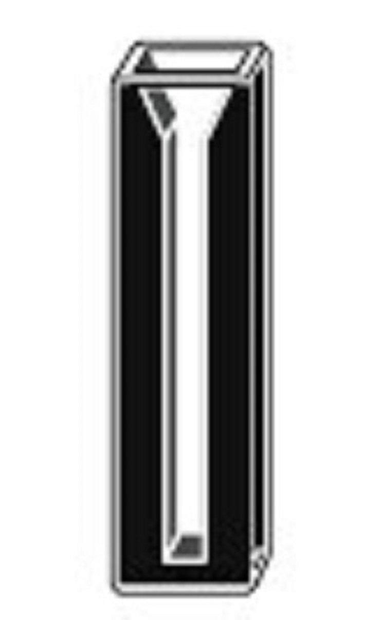Micro Quartz Cuvette, Black Wall, 5mm Lightpath, 0.35ml, 2mm Slit, Cuvettes,cell