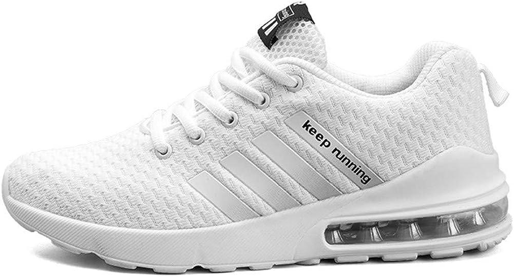 Fexkean - Tobillo bajo de Sintético Hombre Mujer, Color Blanco, Talla 43 EU: Amazon.es: Zapatos y complementos