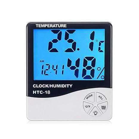 Umiwe Termómetro Digital de la habitación, HTC-18 Higrómetro preciso Termómetro de Humedad Monitor