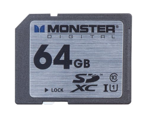 Monster Digital Monster Digital Vault Series 64 GB SDXC Class 10 Memory Card FSD-0064 by Monster Digital