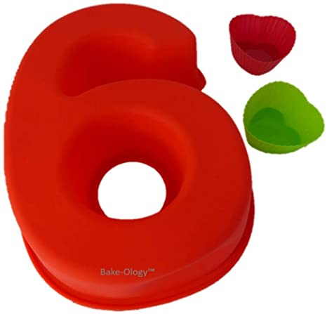 Moldes de silicona para hornear tartas con números grandes para cumpleaños y aniversarios, más 2