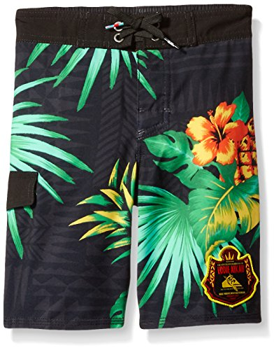 Quiksilver Toddler Boys' Everyday Eddie 14 5 Boardshort, Black, 7X - Quiksilver Board Shorts Infant