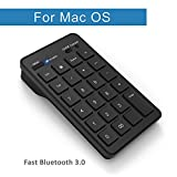 apple bluetooth number pad - Cateck Bluetooth 23-Key Wireless Numeric Keypad External Number Pad Numpad for iMac, MacBook, MacBook Pro, Laptops with OS X System- Black