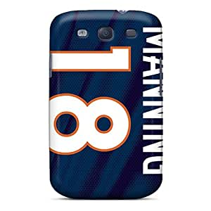 Excellent Hard Cell-phone Cases For Samsung Galaxy S3 With Customized Realistic Denver Broncos Image AaronBlanchette