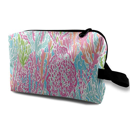 Lily Pulitzer Prints Portable Multifunction Travel Pouches Woman Cosmetic Storage Bags Coin Purse Makeup Bag Pencil Holder -