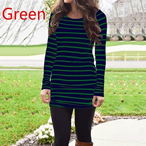 high-quality Digital baby Autumn and Winter Blouse Long Sleeve and Regular Shirts Round Collar Women's Fashion Blouse Casual Brief Newest(Green,XL)