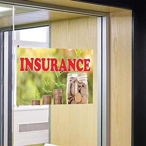 Decal Sticker Multiple Sizes Insurance #2 Business Being insured Against Loss Outdoor Store Sign Yellow Set of 2 64inx42in