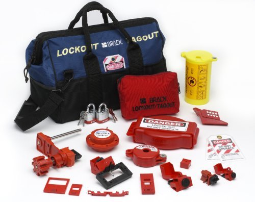 - Brady Combination Lockout Duffel for Electrical and Valve Lockout, Includes 2 Steel Padlocks and 2 Tags by Brady