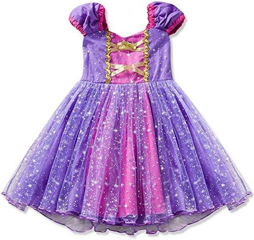 DMMDHR Halloween Girls Rapunzel Princess Dresses Niños Cosplay ...