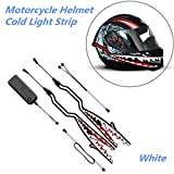 Motorcycle Helmet Light,Cold Light Helmet Stickers Night Riding Signal Flashing Bar for Bike or Motorcycle (White)