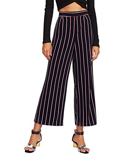 Striped Wide Leg Trousers - 2