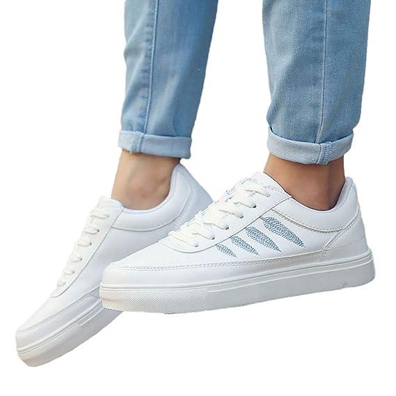 ... Punta Redonda y Punta Redonda Deportiva con Cordones y Zapatos de Pizarra Blanca Mujer Gimnasia Ligero Sneakers Zapatillas: Amazon.es: Ropa y accesorios