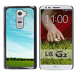 Paccase / SLIM PC / Aliminium Casa Carcasa Funda Case Cover - Nature Field Moon - LG G2 D800 D802 D802TA D803 VS980 LS980