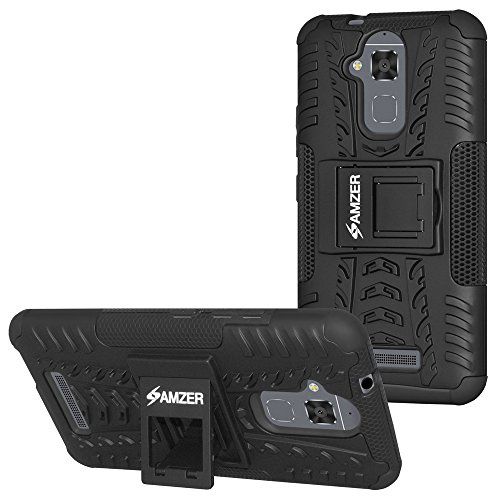 AMZER Hybrid Warrior Dual Layer Slim Protective Shockproof Case for Asus ZenFone 3 Max ZC520TL - Black