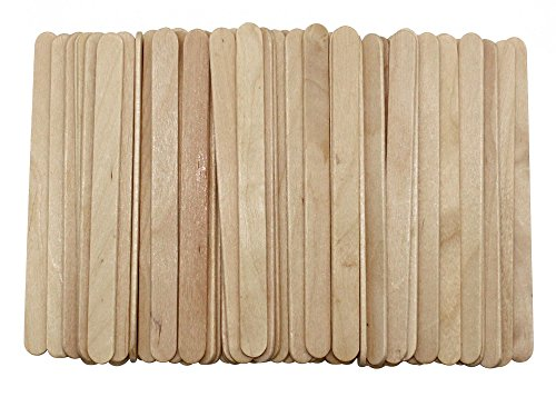 (Jinliang Natural Jumbo Wood Finish Craft Stick,Simply Art Wood Craft Sticks Wood Tongue Depressors Sticks,6 Inch (4.5 inch 200 pcs))