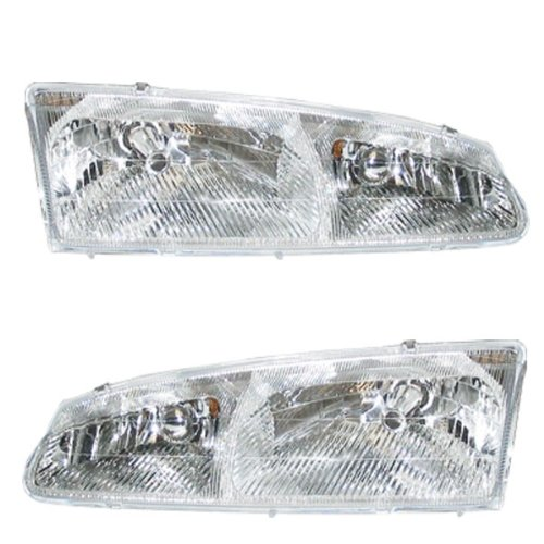 96-97 Thunderbird Tbird Cougar Headlights Headlamps Head Lights Lamps Pair (Cougar Headlamp)