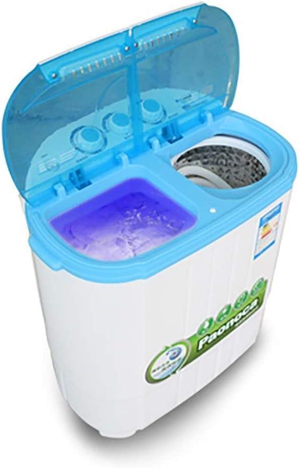 Mini lavadora Mini portátil de lavado de la máquina de doble cilindro de lavandería Máquina Lavadora Doble Tina hogar de gran capacidad de semi-automática for la familia del dormitorio de apartamentos