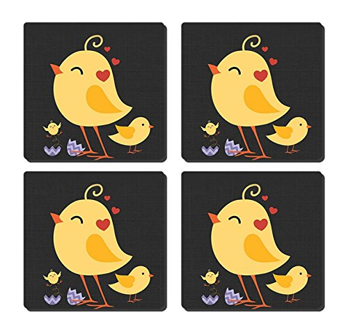 GDEE Hearts And Chicks Custom Personalized Insulation Pad Coaster Cork Mat Teapot Mat Placemat Home Softwood (Chick Personalized Placemat)