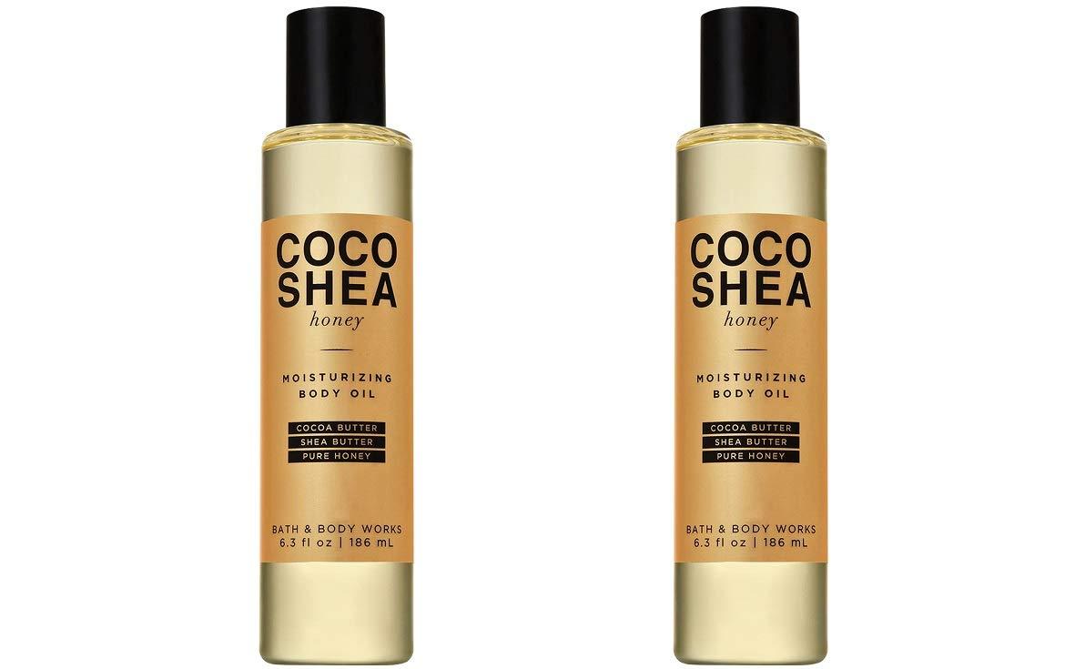 Bath & Body Works 2 Pack CocoShea Honey Moisturizing Body Oil 6.3 Ounce Each