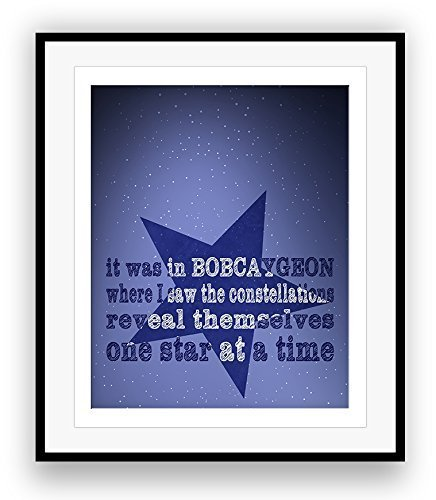 BOBCAYGEON by the Tragically Hip Song Lyrics Art Print