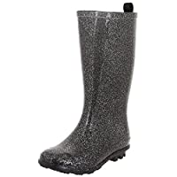 Capelli New York Girls Allover Glitter Fisherman Style Rain Boots