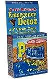 Emergency Detox P Clean Detox Capsules 1 Hour Herbal Detoxification Pills Test Kit (4 count)