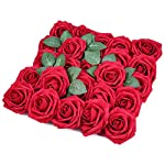 Pawsky-Artificial-Flowers-Red-Roses-50pcs-Real-Looking-Fake-Roses-wStem-for-DIY-Wedding-Bouquets-Centerpieces-Arrangements-Party-Baby-Shower-Home-Decorations