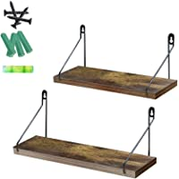 Umi. Essentials Rustic Wooden Floating Shelves Wall Shelf