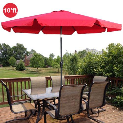 Exceptional Amazon.com : GotHobby 10ft Outdoor Patio Umbrella Aluminum W/ Tilt Crank  Valance   Red : Garden U0026 Outdoor