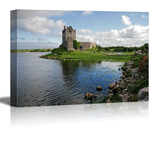 Wall26 - Canvas Prints Wall Art - View of the Dunguaire Castle, Kinvara Bay, Galway, Ireland | Modern Wall Decor/ Home Decoration Stretched Gallery Canvas Wrap Giclee Print. Ready to (Castle Canvas Art)