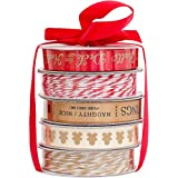 American Crafts Christmas Ribbon Deck The Halls 5 Spools (12 Pack)